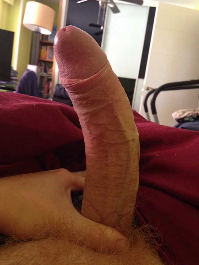 Curved Dick In Close Up